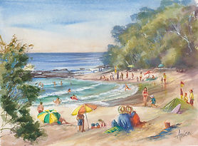 Fun-at-South-End-Mollymook-Beach-37x27-2