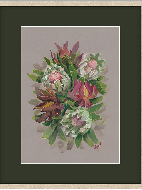 Proteas Bouquet (Framed)