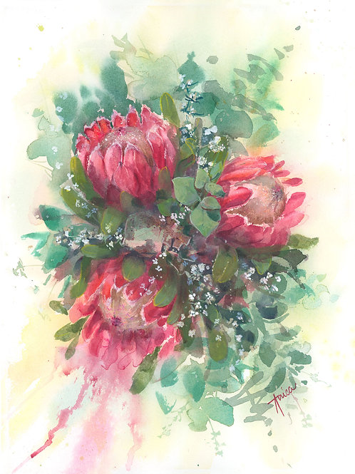 Pink Ice Protea Bouquet