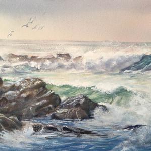 Early Waves at North End Narrawallee Beach