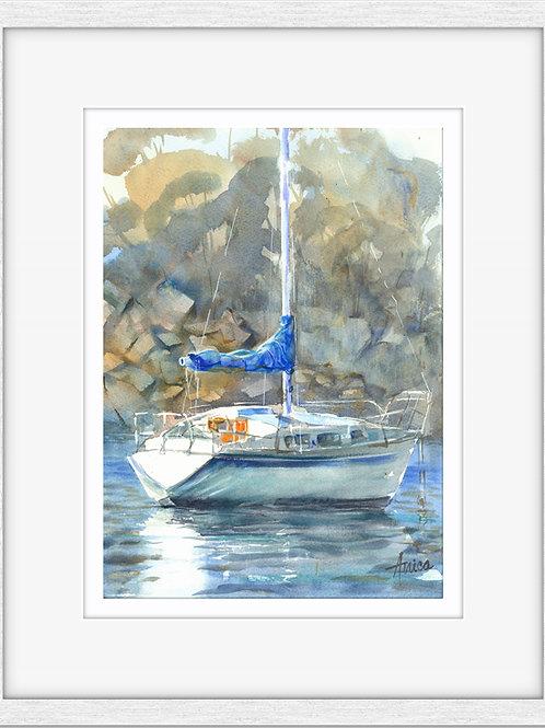 Boat in Ulladulla Harbour (Framed)
