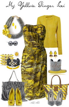 yellow ginger lei