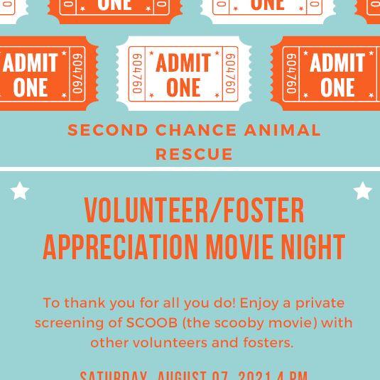 Volunteer/Foster Appreciation Movie Day! *RSVP Required*