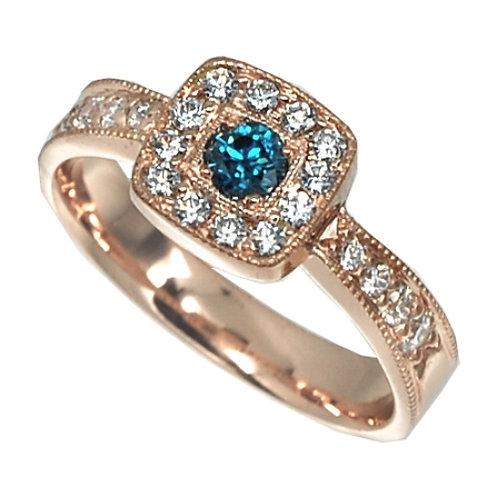Halo` Engagement Ring