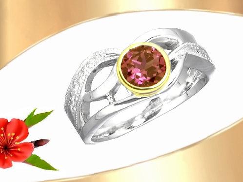 6mm Rhodolite Garnet Ring