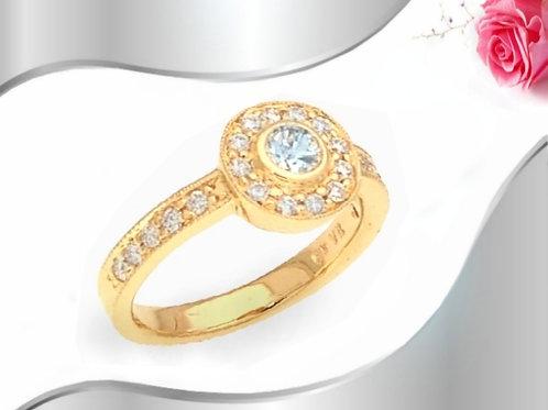 Halo` Ring