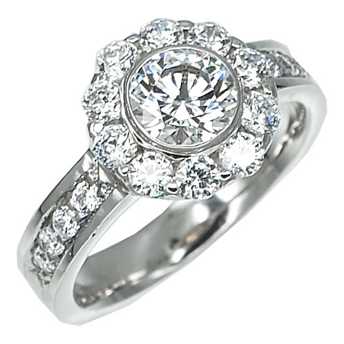 Halo` Engagement Ring