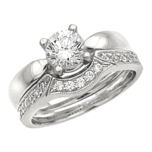 #2911A Solitaire with diamond band