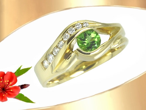 Tsavorite Garnet Ring