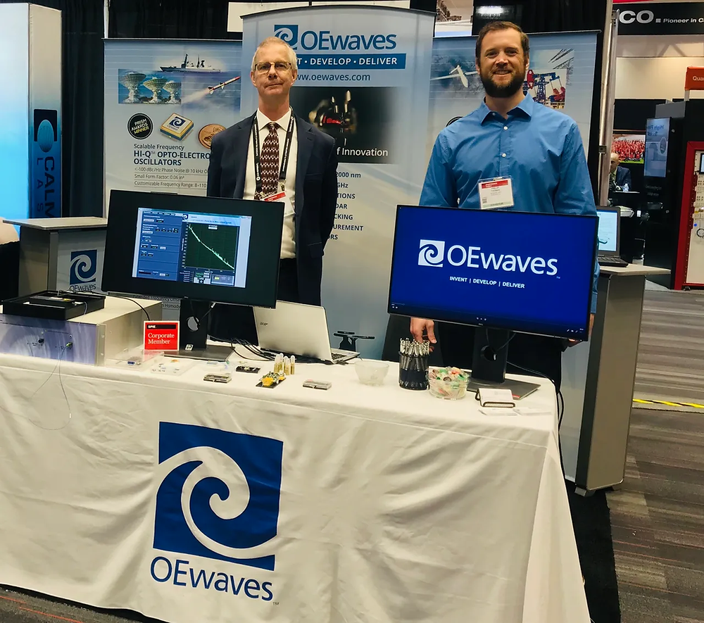 OEwaves is at SPIE Photonics West in San Francisco this week. Visit us at Booth 3410, Hall D.
