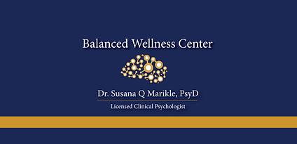 Balanced Wellness Center Logo Blue Backg