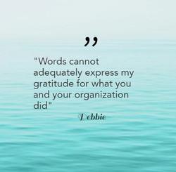 Debbie-Words cannot
