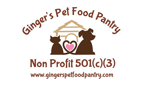 Gingers Pet Food Pantry logo with websit