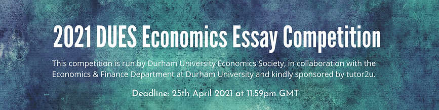 2021 DUES Economics Essay Competition.pn