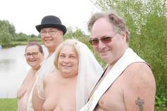 Naturist wedding