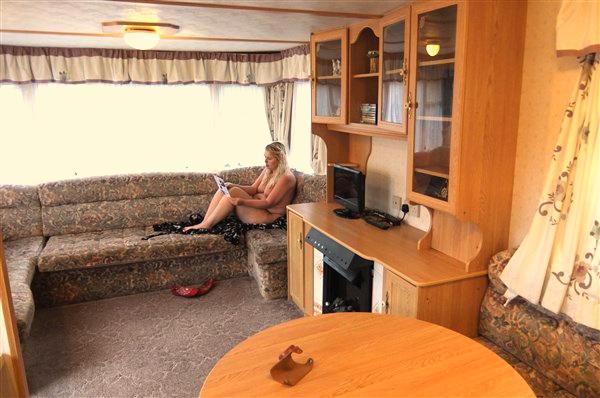 Static Caravan naturist camping camp