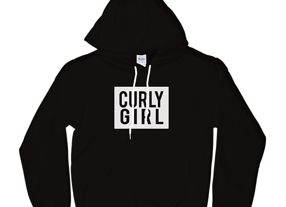 Classic 'Curly Girl' Hoodie - Black