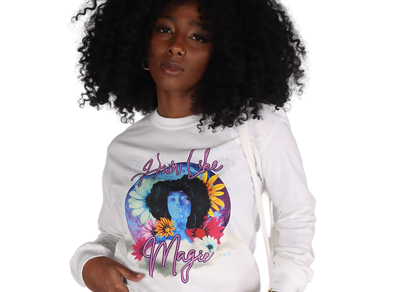 'Hair Like Magic' Graphic Tee - White