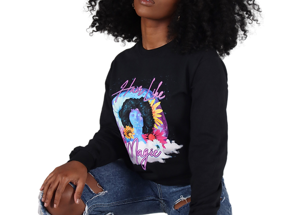 'Hair Like Magic' Graphic Tee - Black