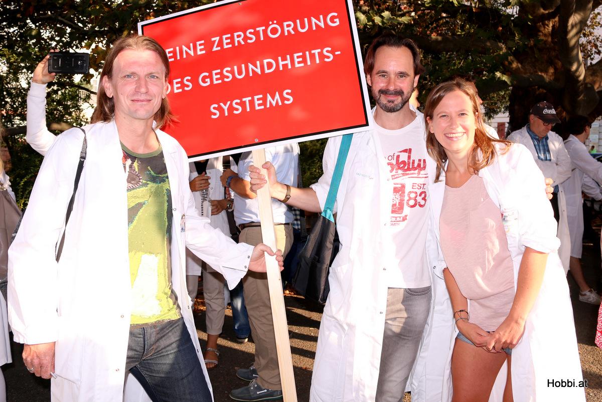 Ärzte Demonstration Wien