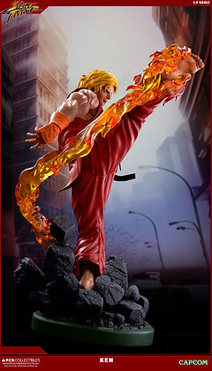 1/4 Scale Ken Dragon Flame Statue (Street Fighter IV)