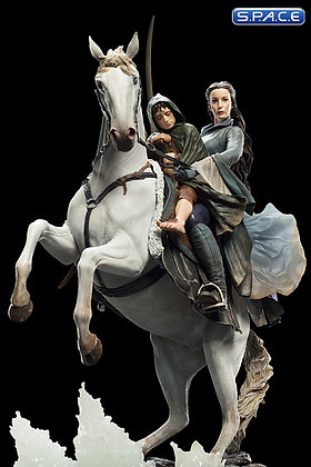 Arwen and Frodo on Asfaloth Statue