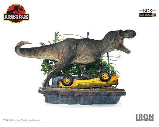 1/10 Scale T-Rex Attack Set A Diorama (Jurassic Park)