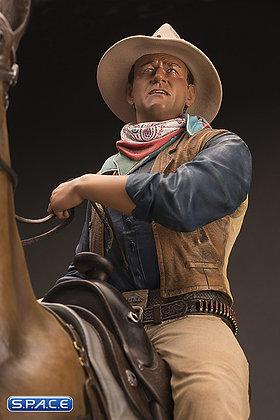 John Wayne on Horse Old & Rare Statue (Hondo)
