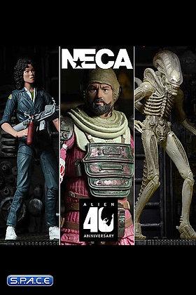 3er Komplettsatz: Alien 40th Anniversary Serie 1 (Alien) Neca