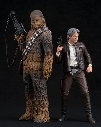 1/10 Scale Han Solo & Chewbacca 2-Pack ARTFX+ (Star Wars: The Fo