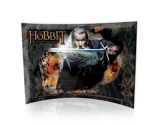 The Hobbit: An Unexpected Journey - Gandalf Glas Print curved