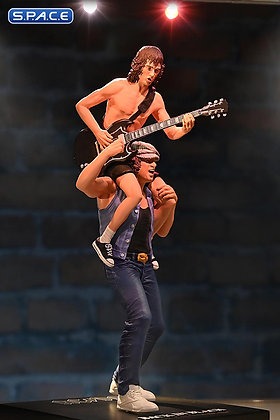 Angus Young & Brian Johnson Rock Iconz Statue (AC/DC)