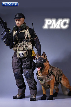 1/6 scale PMC Private Military Contractor with German shepherd