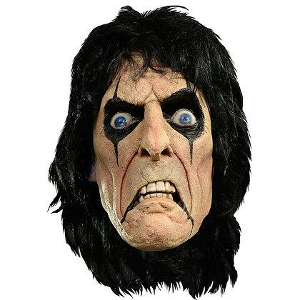 Alice Cooper Latex-Maske mit Kunsthaar