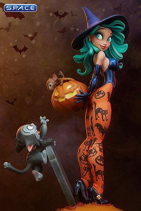 Pumpkin Witch Statue (Chris Sanders Happy HallowQueens Collection)