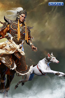 1/6 Scale Erlang God Yang Jian & The Defied Dog (Havoc in Heaven) Inflames