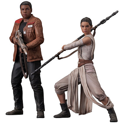 1/10 Scale Rey & Finn ARTFX+ Statues 2-Pack (Star Wars - The For