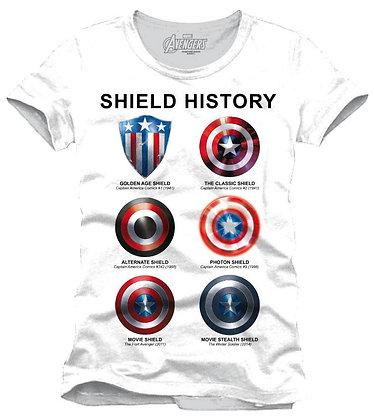 Avengers Assemble T-Shirt Shield History