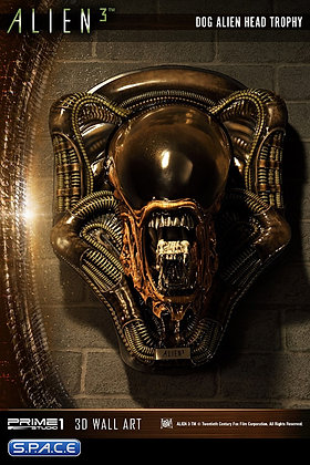 Dog Alien Head Trophy 3D Wall Art Closed Mouth Version (Alien 3) Prime 1 Studio