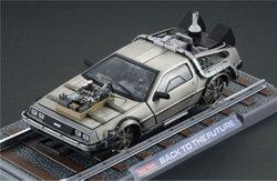 Zurueck in die Zukunft III Diecast Modell 1/18 81er DeLorean Zug