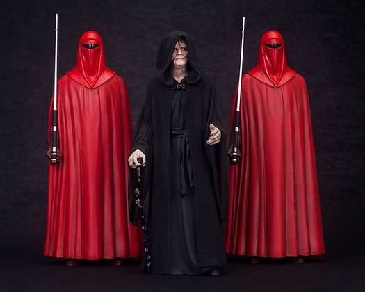 1/10 Scale Emperor Palpatine with Royal Guards ARTFX+ Statues 3-