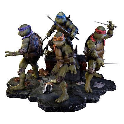 Teenage Mutant Ninja Turtles 1990 Statuen Sideshow Exclusive Set (4) Statuen Tee