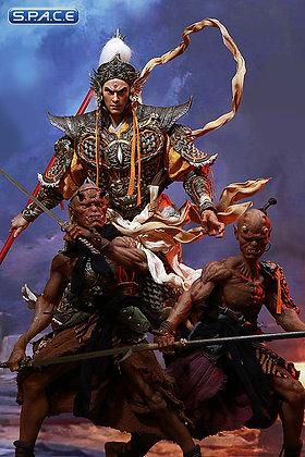 1/6 Scale Erlang God Yang Jian, the Deified Dog, Alternative God Black Horn & Al