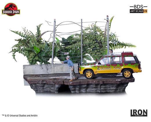 1/10 Scale T-Rex Attack Set B Diorama (Jurassic Park)
