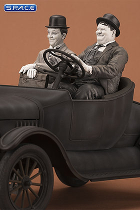 Laurel & Hardy on Ford Model T Cars Legacy Collection Statue