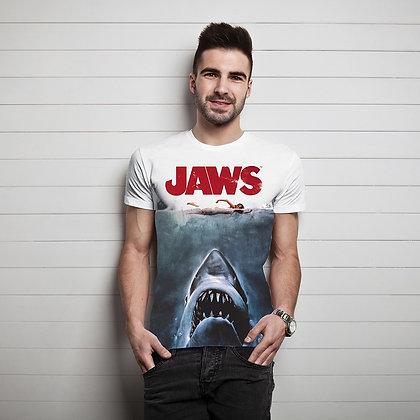 Jaws – Shark Sublimation – Mens T-Shirt