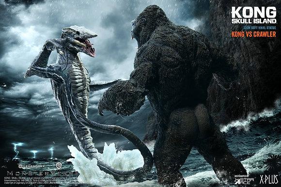 Kong Skull Island Deform Real Series Statuen Kong vs Skull Crawler Deluxe Versio