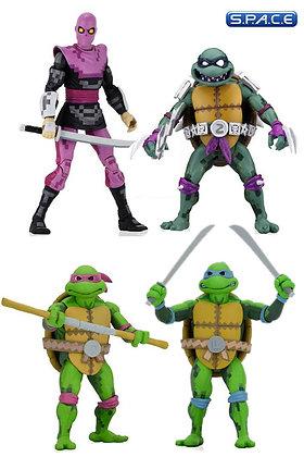 4er Komplettsatz: TMNT: (Teenage Mutant Ninja Turtles: Turtles in Time)