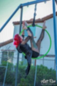 Acrobatist performing at the Arts Run
