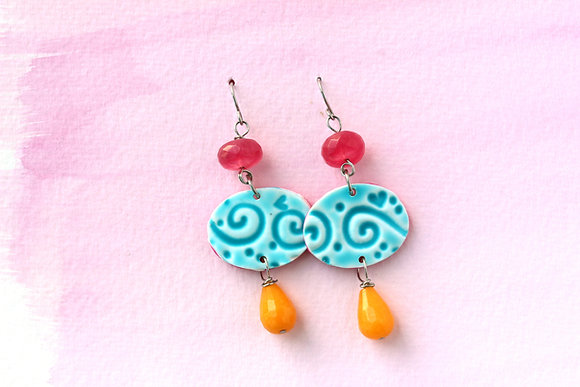 Mediterrean Tile Earrings